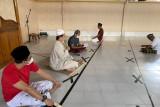 Warga binaan Lapas Rajabasa menggelar shalawat memohon kesehatan