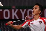 Ginting mengemas kemenangan kedua di penyisihan Grup J Olimpiade Tokyo