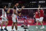 Zheng/Huang hentikan Praveen/Melati di perempat final Tokyo 2020