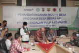 Program Desa Bebas Api RAPP berhasil turunkan Karhutla di Pelalawan