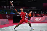 Ginting kalahkan Tsuneyama untuk ke perempat final Olimpiade
