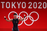 Olimpiade Tokyo - Lifter Indonesia Rahmat Erwin Abdullah sumbang perunggu