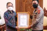 Gubernur Bali terima penghargaan PPKM Mikro terbaik dari Kapolri, ini alasannya
