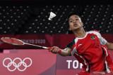 Anthony Ginting berjuang lawan Chen Long di semifinal Olimpiade Tokyo 2020
