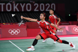 Ganda putri Greysia/Apriyani unggul dibabak pertama difinal Bulutangkis Olimpiade 2020