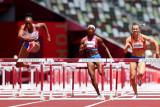 Jasmine Camacho  Puerto Rico meraih emas lari 100 meter gawang putri