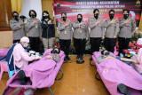 Peringati HUT Polwan, polisi wanita Polda Jateng donor darah