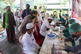 Wakapolda Kalteng pantau vaksinasi COVID-19 untuk kalangan santri di Sampit