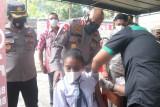 Polda Papua gandeng DPPAD gelar vaksinasi COVID-19 di sekolah-sekolah