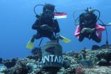 ANTARA bangun tugu Merah Putih di dasar laut Natuna