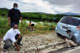Komnas HAM Papua olah TKP kasus perusakan mobil Ketua AJI Jayapura