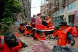 Akibat banjir warga China dievakuasi, proyek pertambangan ditutup
