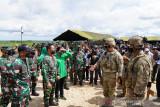Kasad meninjau latihan  bersama Garuda Shield Ke-15 di Amborawang
