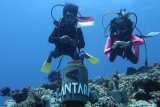 Peringati HUT RI, ANTARA bangun tugu Merah Putih di dasar laut Natuna