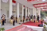 Polisi sterilkan jalur Istana Merdeka saat Upacara  HUT Kemerdekaan RI