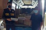 Bea Cukai Kudus gagalkan distribusi rokok ilegal dengan mobil mikrobus