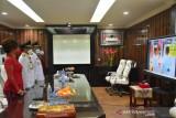 Wali-Wawali Manado ikut HUT proklamasi dari istana secara virtual