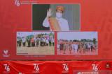Presiden Jokowi menyapa masyarakat Poso dan Merauke melalui konferensi video