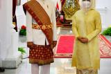 Jokowi kenakan pakaian adat Lampung saat Upacara HUT ke-76 RI