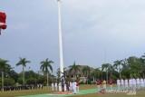 Insiden tali bendera putus saat upacara HUT RI di Babel