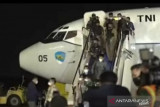 Tadi subuh, pesawat TNI AU bawa WNI dari Afganistan tiba di Jakarta