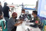 Lantamal XIII Vaksinasi Nelayan yang Melintas di Posal Tanjung Selor