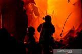 14 mobil damkar dikerahkan untuk padamkan api di Kapuk Raya