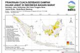 Sejumlah wilayah di Indonesia hadapi potensi hujan lebat dan risiko banjir