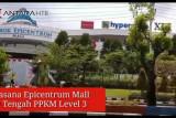 Suasana Epicentrum Mall di masa PPKM level 3