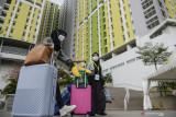 Presiden Jokowi meresmikan Rusun Pasar Rumput berkapasitas 1.984 hunian