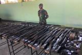 100 pucuk senpi ditemukan di perbatasan RI-RDTL
