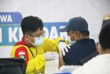 583 Mahasiswa IAIN kendari Jalani Vaksinasi Tahap Pertama