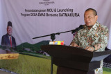 Ketua DPD hadiri peluncuran Desa Emas dan bertemu kyai kampung se-Lampung