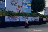 Spanduk dukungan kepada KPK terpasang di Banjarnegara