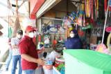 Bupati Lampung Selatan tinjau pedagang eks Pasar Bakauheni di Pasar Siring Itik
