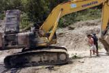 KKB bakar alat berat milik PT Wika di Pegunungan Bintang Papua