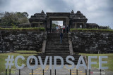 Uji coba pembukaan Taman Wisata Candi Borobudur dan Prambanan pakai PeduliLindungi lancar