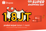 Shopee 9.9 Super Shopping Day jual 1,8 juta produk dalam semenit