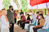 Pelajar Wajo antusias ikuti vaksinasi COVID-19 di hadapan Presiden Jokowi
