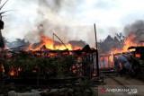 Kampung narkoba Jambi terbakar