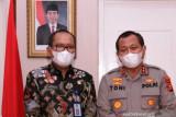Polda-Kanwil Kemenkumham  Sumsel bahas masalah tahanan masa pandemi