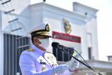 Korps Marinir menggelar upacara peringatan HUT Ke-76 TNI AL