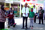 Presiden Jokowi meninjau vaksinasi untuk 375 pelajar SLB di Yogyakarta