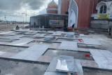 Pengerjaan Masjid 99 Kubah Makassar terhambat akibat pekerja terpapar COVID-19