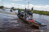 Banjir luapan Sungai Kahayan Dijalur Nasional Kalimantan
