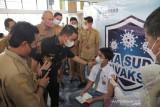 Secara virtual Wawako Solok ikuti peluncuran gebyar vaksinasi remaja Sumbar