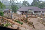 Hujan lebat menyebabkan banjir di Serui, Kepulauan Yapen Papua