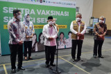 Maruf Amin tinjau Sentra Vaksinasi Sinergi Sehat Jakarta