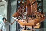 Pengrajin miniatur kapal di Jepara kembali  produksi