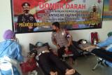 Puluhan personel Satlantas Polres Mabar donor darah